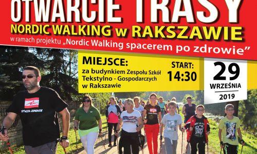 Otwarcie trasy Nordic Walking w Rakszawie