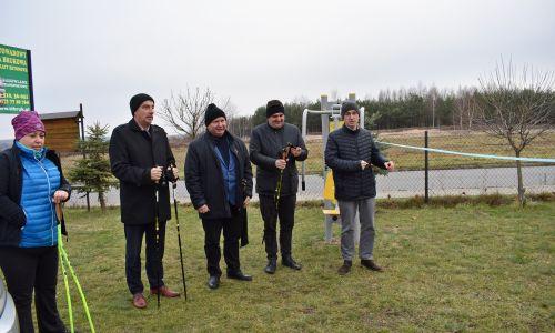 Otwarcie tras Nordic Walking w gminie Kamień
