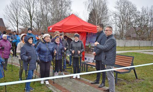 Otwarcie tras Nordic Walking w gminie Sokołów Małopolski